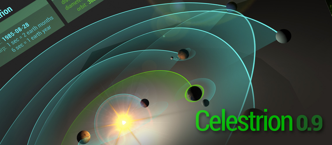 celestrion - play with the solar system